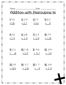 Addition with Regrouping: Leveled Packet