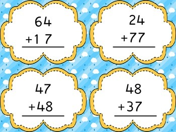 Addition with Regrouping Matching Game Center
