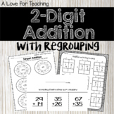2 Digit Addition with Regrouping {No Prep + Digital} Dista
