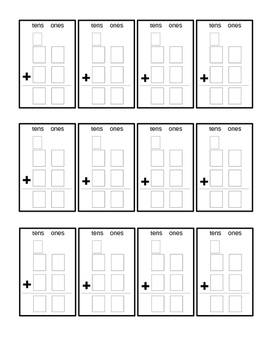 Graphic Organizer for Addition with Regrouping (2 digits)
