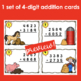 Addition with Regrouping Scoot Game/Task Cards- Farm Themed