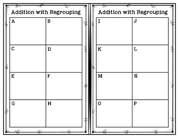 Addition with Regrouping Task Cards - 2 & 3 Digit Numbers