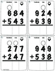 Addition with Regrouping Task Cards (3-Digit)