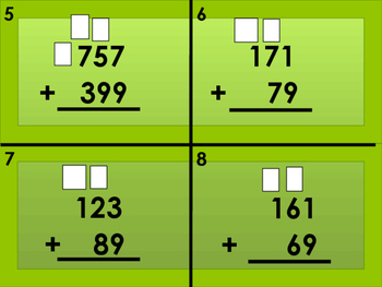 Addition with Regrouping Task Cards (36)