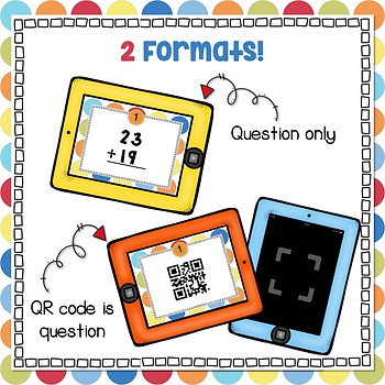 Addition with Regrouping Task Cards and Scoot Game