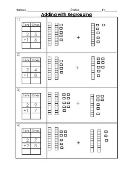 Addition with Regrouping Worksheet