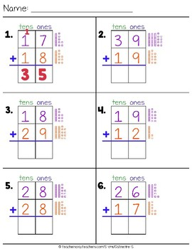 Addition with Regrouping Worksheets