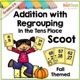 Regrouping Addition in the Tens Place Scoot Math Game