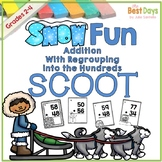Regrouping Addition into the Hundreds Place Scoot:  Winter Themed