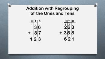 Addition with Regrouping of Ones, Tens, & Hundreds
