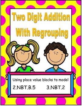 Addition with Regrouping using Place Value Model 2.NBT.B.5, 3.NBT.5, 3.NBT.A.2