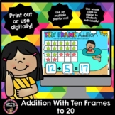 Addition with Ten Frames  - Distance Learning