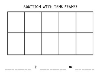 Addition with Tens Frames