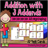 Addition with Three Addends - All Regrouping