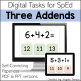 Addition with Three Addends | Digital Tasks for Special Education