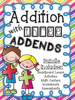 Addition with Three Addends Math Unit