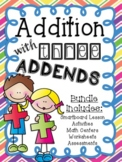 Addition with Three Addends Math Unit