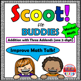 Mental Math Addition with Three Addends - Scoot for Buddies!