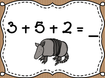 Cowboy Three Number Addition Activity Pack
