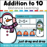 Addition with a Number Line Winter Interactive Google™ Classroom