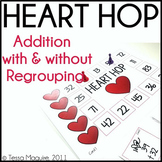 Heart Hop- Addition with and Without Regrouping Game