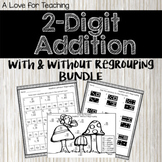 2 Digit Addition With and Without Regrouping BUNDLE {Digital}