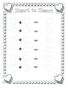 Addition with dice and hearts