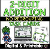 2-Digit Addition NO regrouping (Superhero theme) Task Cards