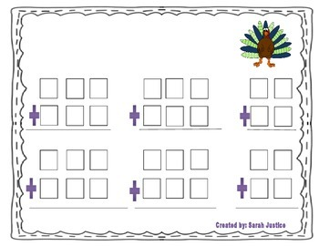 Addition with regrouping Dice Activity ( Thanksgiving)