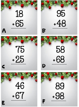 Addition with regrouping (Holiday Theme)