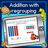 Addition with regrouping for Google Classroom™ DIGITAL LEARNING