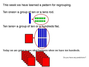 Addition with regrouping minilesson classwork homework FREE