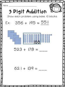 Addition within 1,000 - Complete Packet