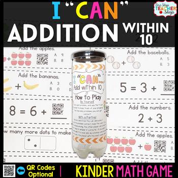 Kindergarten Addition within 10 | Kindergarten Math Centers