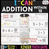 Kindergarten Addition within 10 Game