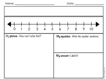 Addition within 10 Math Story Problems English Version