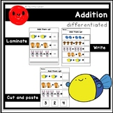 Addition within 10 (differentiated tasks)
