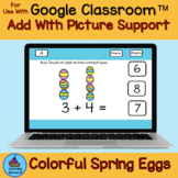 Addition within 10 with Pictures Colorful Easter Eggs for