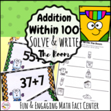 Addition within 100- Solve and Write the Room First Grade Math