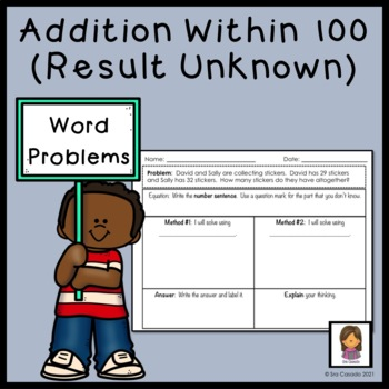 Addition within 100 Word Problems (2nd Grade Math) English Version