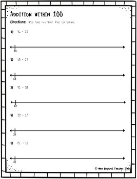 photograph about Printable Number Line to 100 identify Addition inside 100 upon Open up Range Line