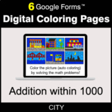 Addition within 1000 - Digital Coloring Pages | Google Forms
