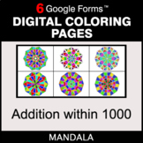 Addition within 1000 - Digital Mandala Coloring Pages | Go