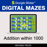 Addition within 1000 | Digital Mazes Distance Learning | G