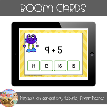 Addition within 14 Fluency Practice - Boom Cards