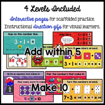 Add within 20: Addition Facts and Strategies  Google Classroom Distance Learning