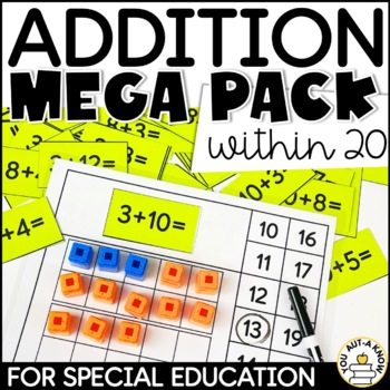 Addition within 20 Mega Pack for Special Education