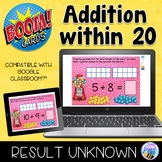 Boom Cards Addition within 20 Result Unknown Distance Learning