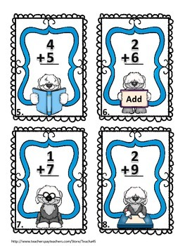 Addition within 20 Task Cards - 1.OA.C.6