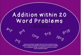 Addition within 20 - Word Problems - INTERACTIVE Smartboar